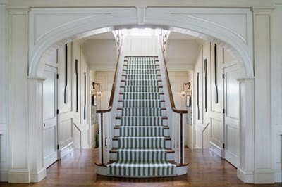 Cool black and white stair runner