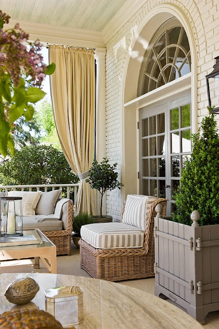 Neutral palette on porch