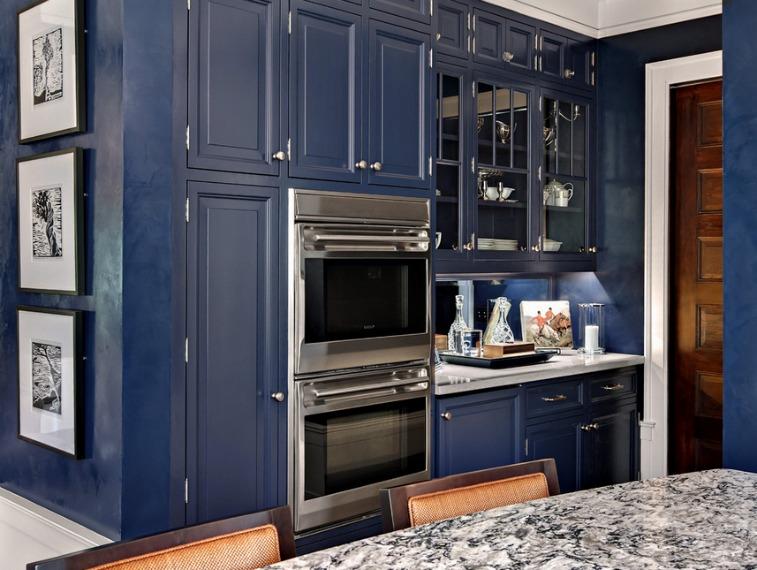 Matching walls and kitchen cabinets