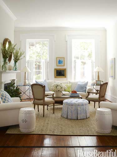 Muted accents with white walls
