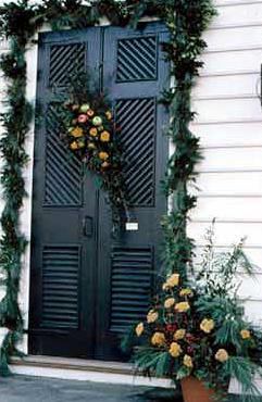 Painted exterior door