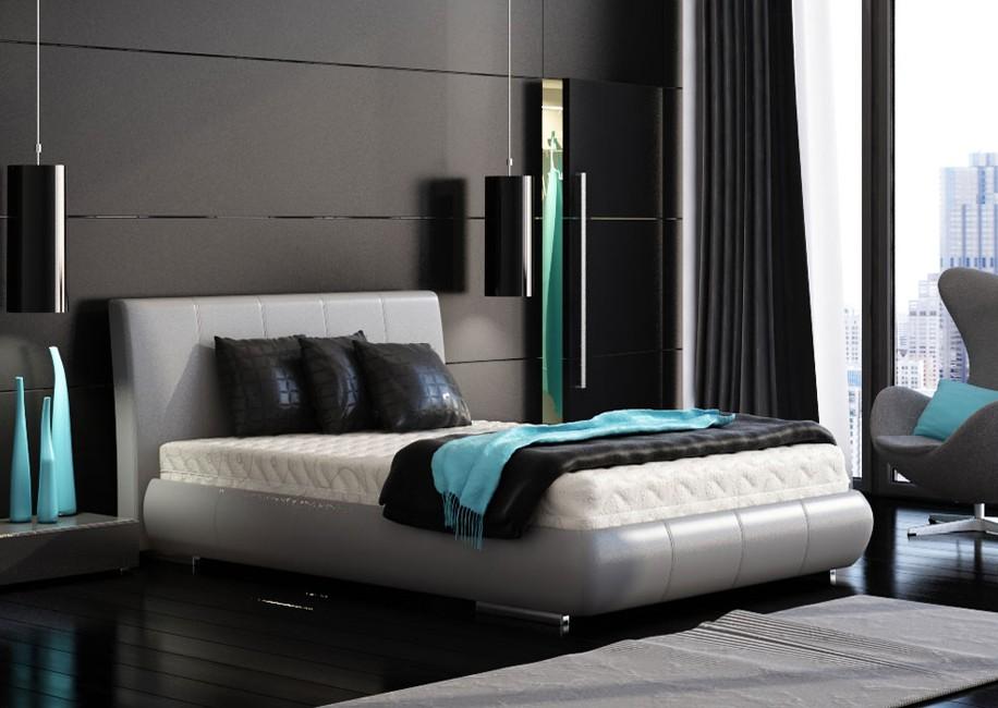 black-bedroom-turquoise-accents   Laura Casey Interiors, Interior ...
