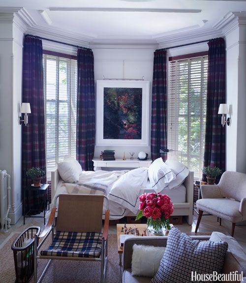 Plaid window treatments