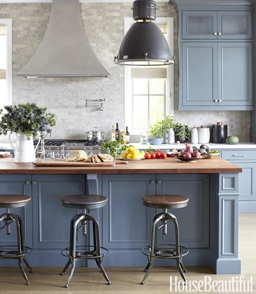 Grey blue cabinets
