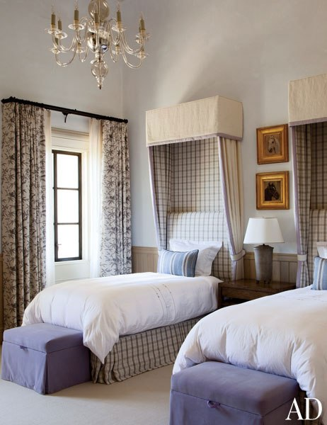 Plaid in bedrooms