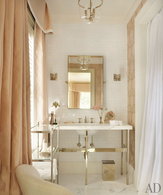 White tile and stone