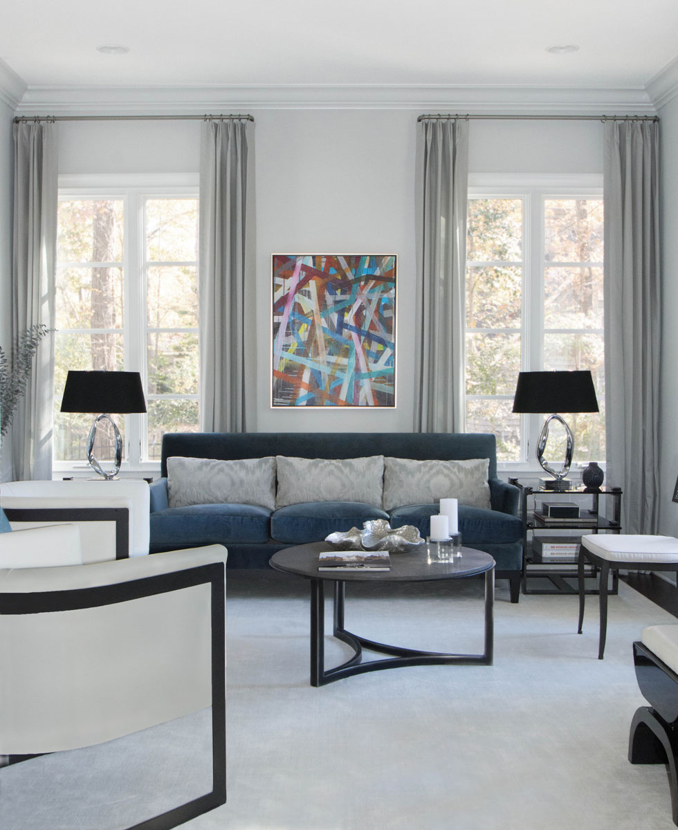 LCI Interior Designer Living Room Charlotte
