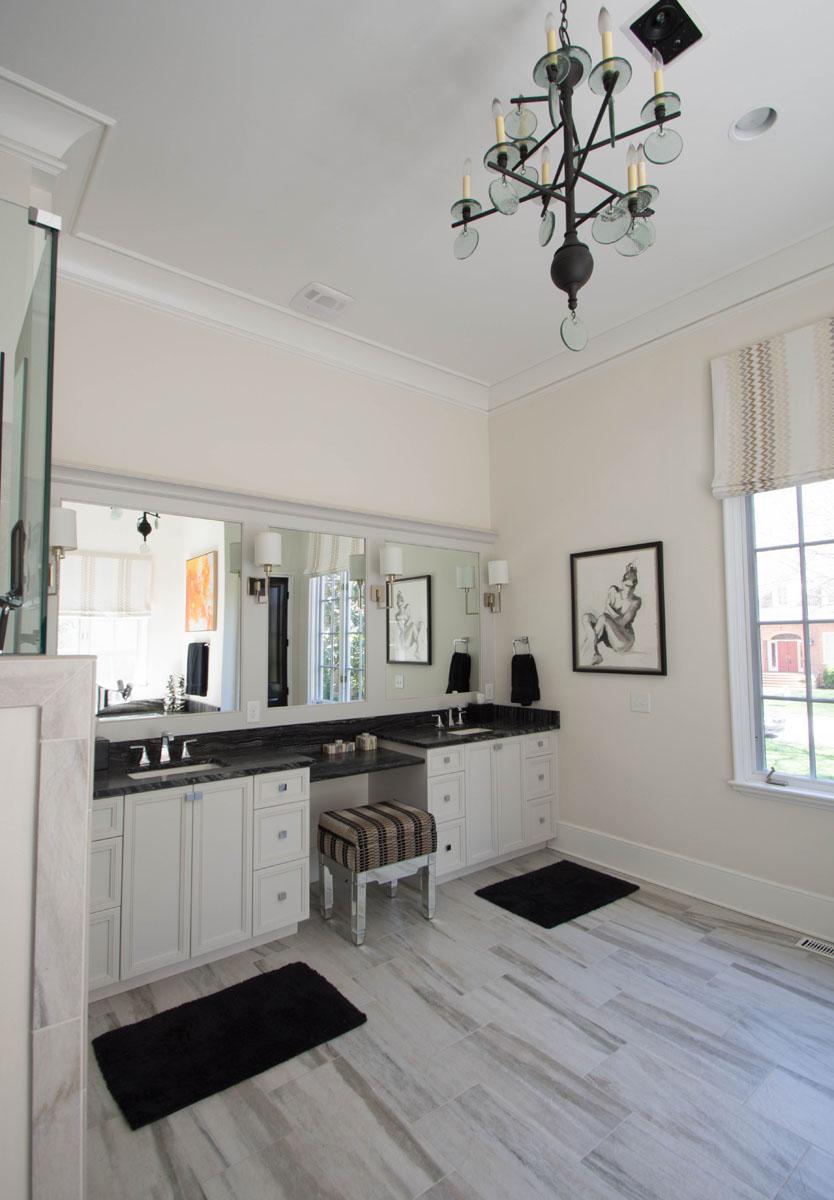 Charlotte Interior Designer Master Bathroom