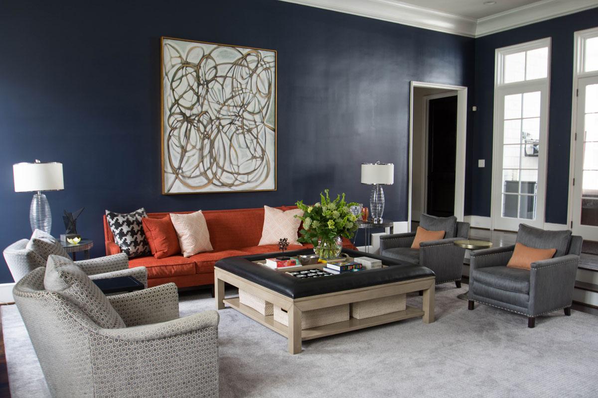 LCI Interior Designer Family Room Charlotte NC