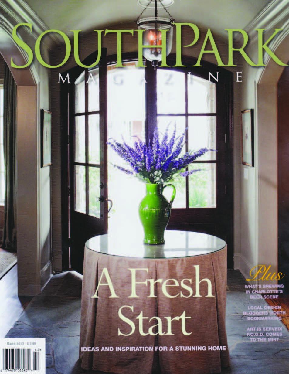 Southpark Magazine Laura Casey interior Design Charlotte NC