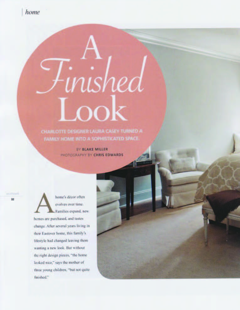 A finished look family home southpark magazine