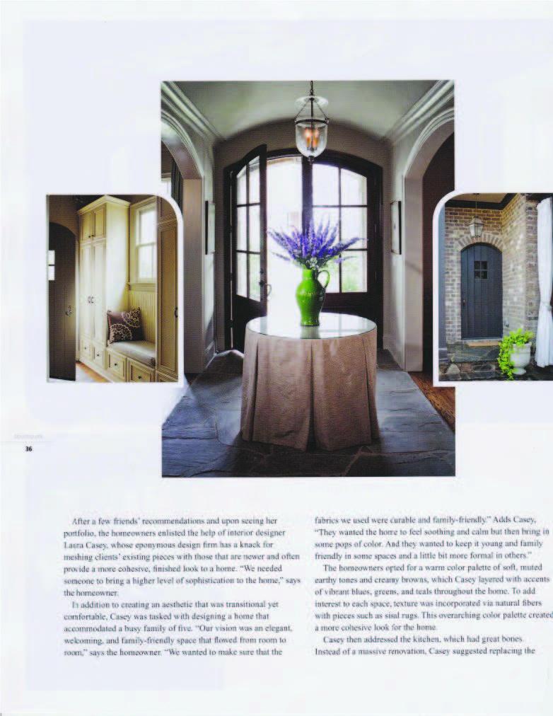 Interior Decorator Charlotte Southpark Magazine March 2013