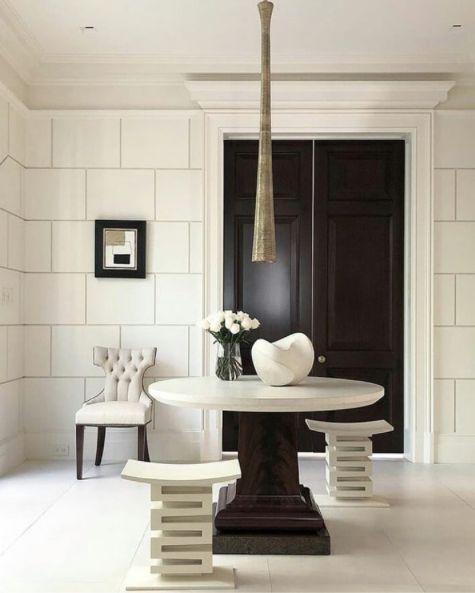 modern, white entry