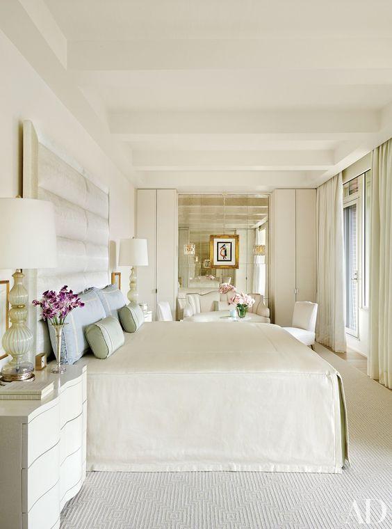creamy white bedroom