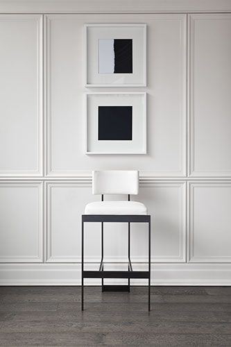 modern, chromatic white composition