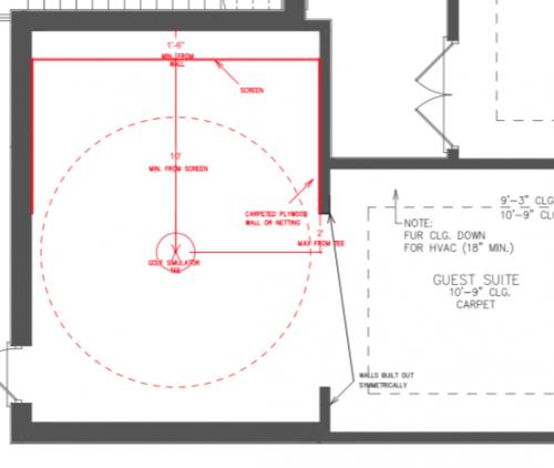 CAD drawing golf simulator