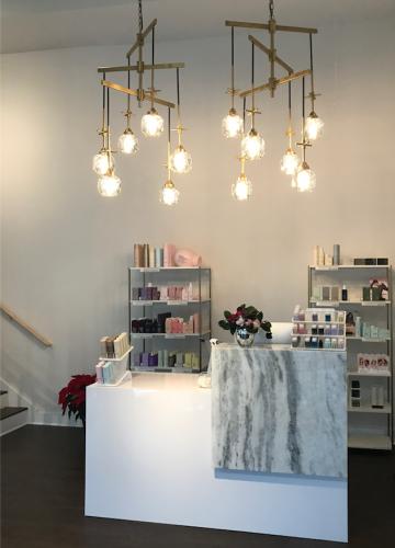 Meraki Salon Reception Desk- design by Laura Casey Interiors