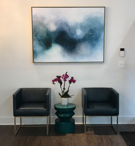 Reception seating- design by Laura Casey Interiors